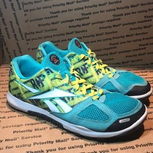 Reebok Crossfit Nano 2.0 Women Green Shoe Size 9.5